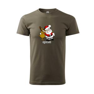 Nej kámoši - Santa a sob - Triko Basic Extra velké