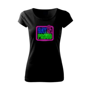 Neon sign gay and pride - Pure dámské triko
