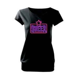 Neon sign queer - Volné triko city