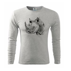 Nosorožec černobílý  (Pecka design) - Triko s dlouhým rukávem FIT-T long sleeve