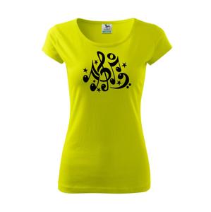 Noty a hvězdy - Pure dámské triko