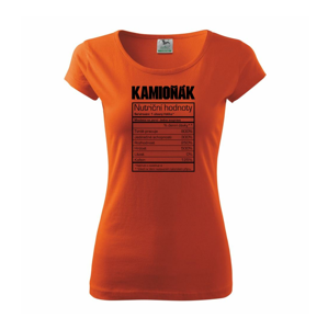 Nutriční hodnoty - Kamioňák - Pure dámské triko