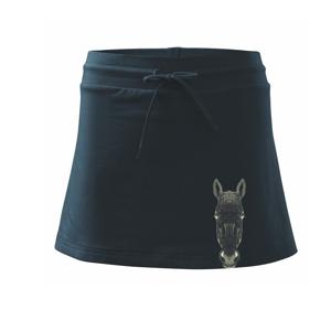 Osel kresba - Sportovní sukně - two in one
