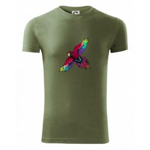 Papoušek kreslený letící - Viper FIT pánské triko