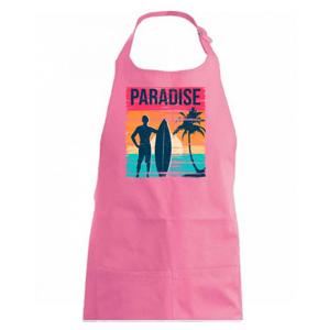 Paradise - barevný čtverec - Zástěra na vaření