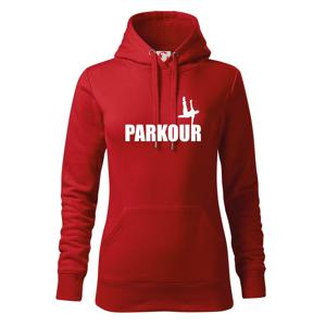 Parkour - na jedné ruce - Mikina dámská Cape s kapucí