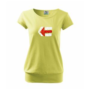 Párová značka červená - Volné triko city