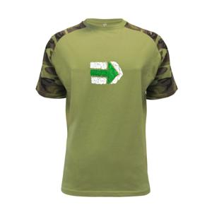 Párová značka zelená - Raglan Military