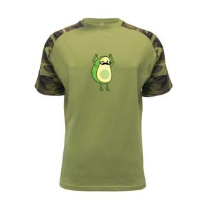 Párové triko - avokádo - Raglan Military