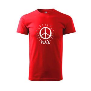 Peace symbol černobílý - Triko Basic Extra velké