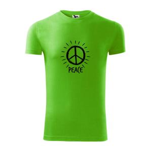 Peace symbol černobílý - Viper FIT pánské triko