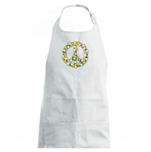 Peace symbol kopretiny - Dětská zástěra na vaření