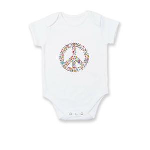 Peace symbol lístečky - Body kojenecké