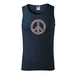Peace symbol lístečky - Tílko pánské Core