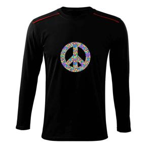 Peace symbol mandela - Triko s dlouhým rukávem Long Sleeve