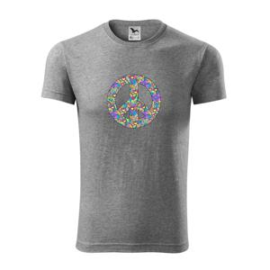 Peace symbol mandela - Viper FIT pánské triko