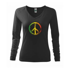 Peace symbol paint - Triko dámské Elegance
