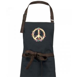 Peace symbol pískový - Zástěra Vintage