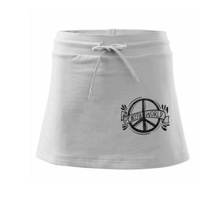 Peaceful world logo - Sportovní sukně - two in one