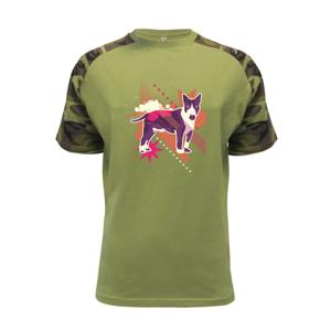 Pes abstrakce fialový - Raglan Military
