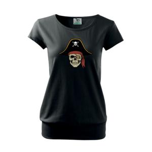 Pirátská lebka s kloboukem - Volné triko city