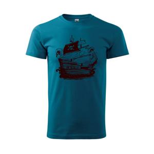 Pirátská loď malovaná - Heavy new - triko pánské