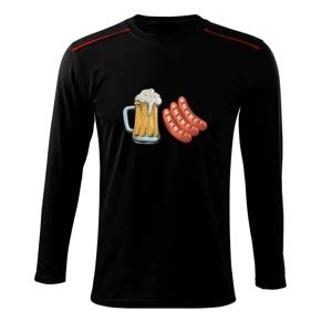 Pivo a klobása - Triko s dlouhým rukávem Long Sleeve