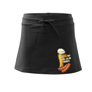 Pivo a klobása vím co je dobrý - vlastní ročník - Sportovní sukně - two in one