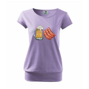 Pivo a klobása - Volné triko city