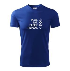 Play Eat Sleep Repeat badminton - Dětské triko Fantasy sportovní
