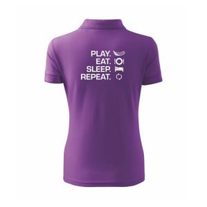 Play Eat Sleep Repeat florbal - Polokošile dámská Pique Polo