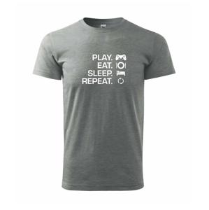 Play Eat Sleep Repeat game - Heavy new - triko pánské