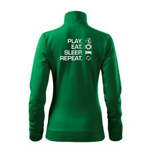 Play Eat Sleep Repeat házená - Mikina dámská Viva bez kapuce