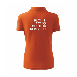 Play Eat Sleep Repeat polo - Polokošile dámská Pique Polo