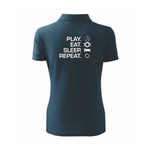 Play Eat Sleep Repeat tenis - Polokošile dámská Pique Polo