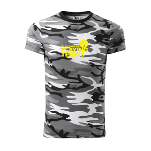 Playing tennis - Army CAMOUFLAGE