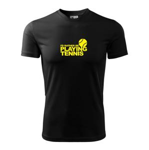 Playing tennis - Dětské triko Fantasy sportovní (dresovina)