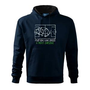 Pojď sem, kam jdeš a trefit zařízení - Mikina s kapucí hooded sweater