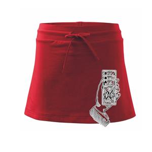 Poker ruka s kartama - Sportovní sukně - two in one