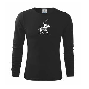 Polo kůň nápis - Triko dětské Long Sleeve