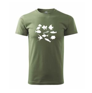 Potápeč ryby čtverec - Heavy new - triko pánské