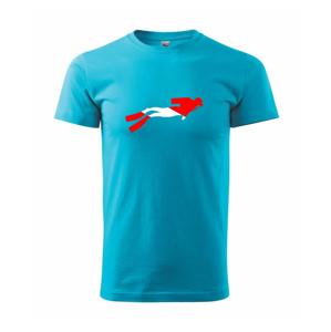 Potápěč vlajka - Heavy new - triko pánské