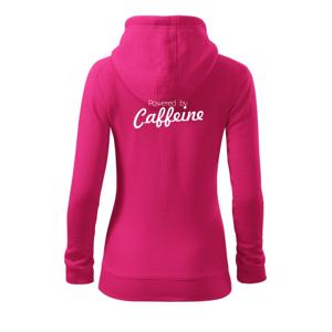 Powered by Caffeine - Dámská mikina trendy zippeer s kapucí