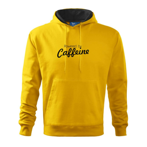 Powered by Caffeine - Mikina s kapucí hooded sweater