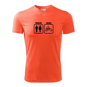 Problém cross motorka - Pánské triko Fantasy sportovní (dresovina)
