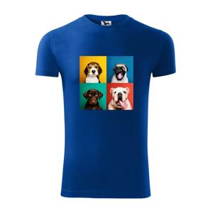 Psi štěňata koláž - Viper FIT pánské triko