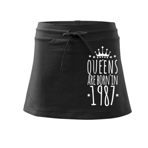 Queens are born in 1987 - Sportovní sukně - two in one