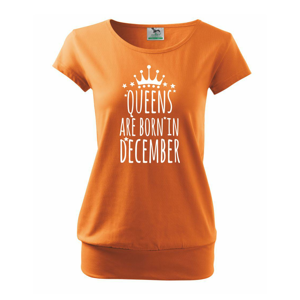 Queens are born in December - Volné triko city