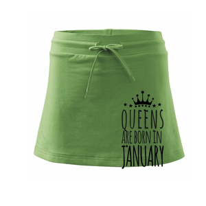 Queens are born in January - Sportovní sukně - two in one