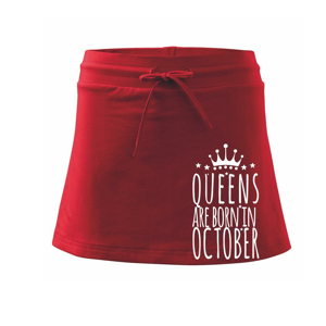Queens are born in October - Sportovní sukně - two in one